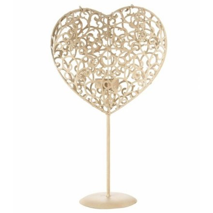 A beautiful, elegant shabby chic tea light holder for a really romantic glow