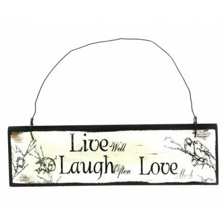 Live Laugh Love Wooden Vintage Sign
