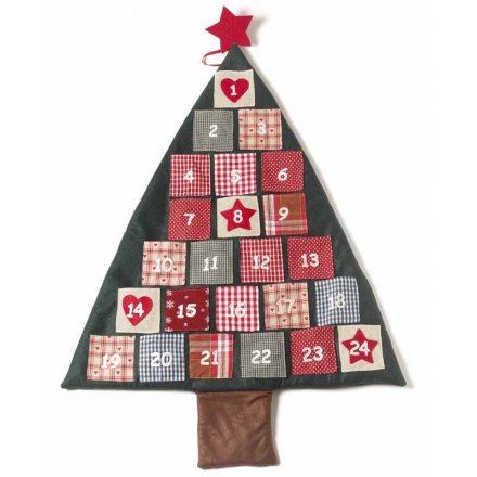 Fabric Christmas Tree Advent Calander 100cm