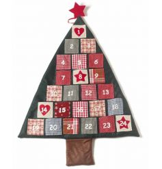 Fabric Christmas Tree Advent Calendar. Perfect to use every year. 100cm.
