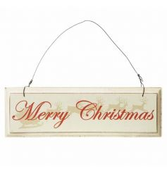 Chic festive sign, great for hanging up in your home at Christmas time