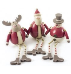 This fun wooden assortment of christmas characters will add that vintage feel into any display at christmas