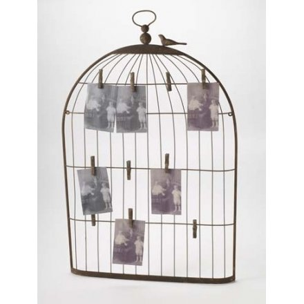 Iron Bird Cage Card Holder Large