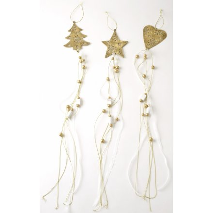Metal Hanging Mix Heart Tree Star 3a