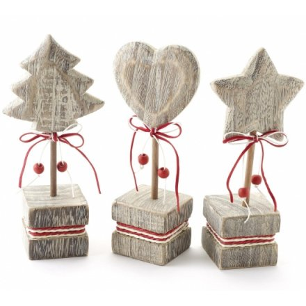 Heart Tree Star Mix Christmas 3a 20cm