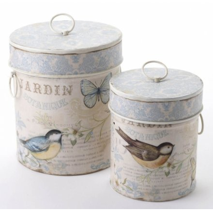 Bird Design Bird Seed Tins