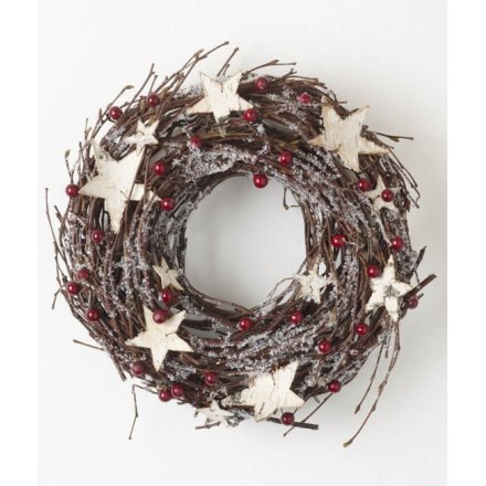 Wreath With White Stars
