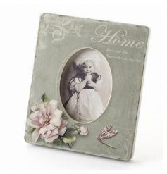 Gorgeous ornate shabby chic photo frame 'Home is where your story begins'