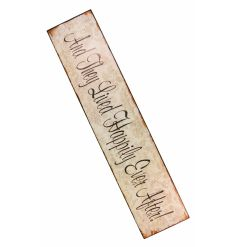Charming, decorative shabby chic wooden sign - large