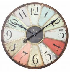 This multicoloured clock will bring life and colour to any room in your house