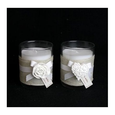 Candle Pot and Ceramic Motif 6cm 2a