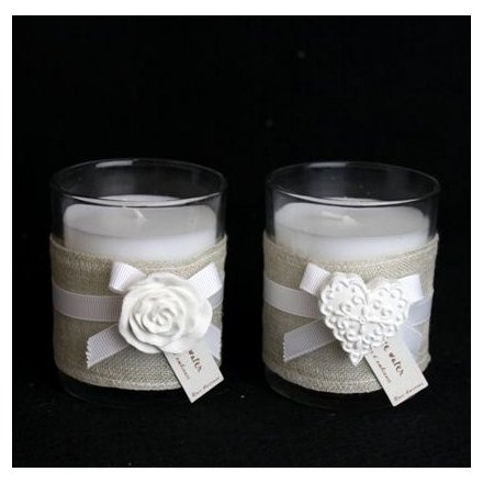 Candle Pot and Ceramic Motif 8cm 2a