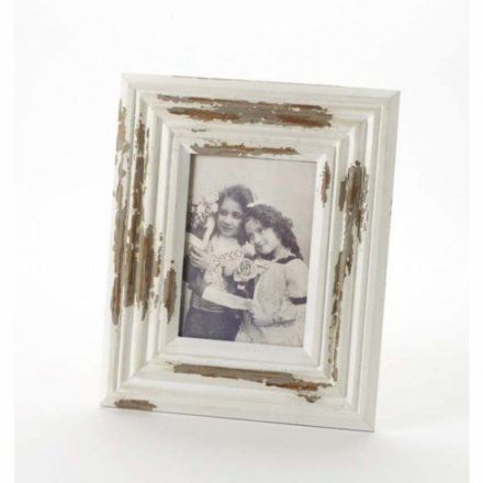 Distressed Cream Frame