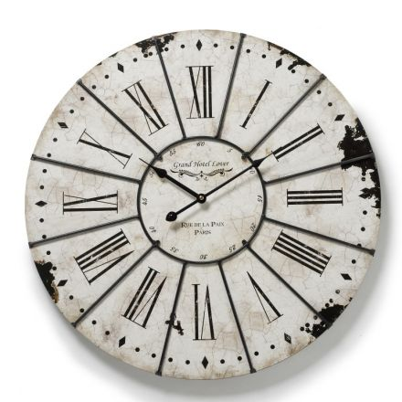 Large White Antique Wall Clock
