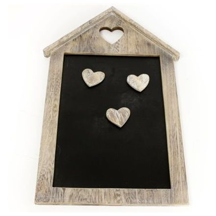 Natural Wooden House Chalkboard