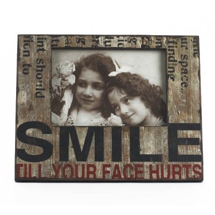 Smile Wooden Photo Frame