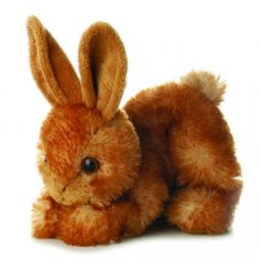 Soft toy rabbit by Aurora World. 8 inches