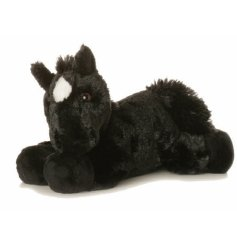 Beau the beautiful dark horse. By Aurora World. Length 8 inches