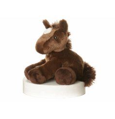 Prancer the gorgeous chocolate horse. By Aurora World. Length 8 inches
