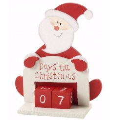 A festive way to count down the days until Christmas, this Santa themed perpetual calendar is perfect for any home