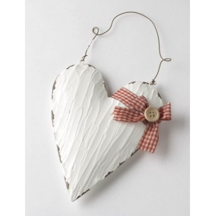 Metal Heart With Hanger Small 13.5cm