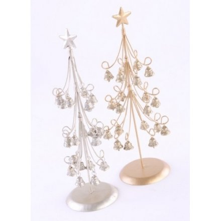 Silver/Gold Xmas Tree With Bells Mix