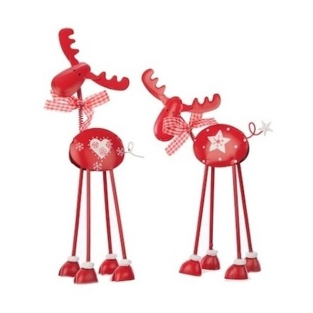 Metal Standing Reindeer Mix 2a