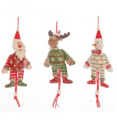 Hanging Christmas decorations in 3 assorted designs