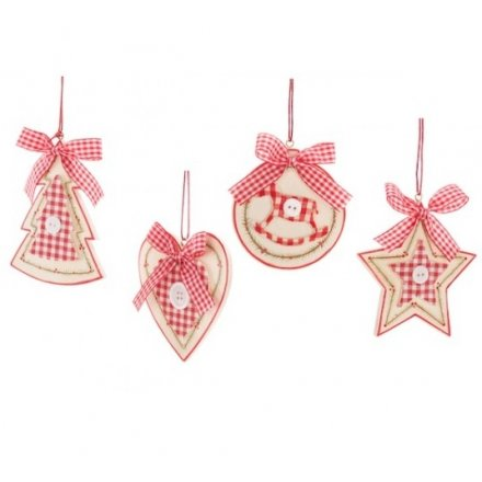 Wooden Heart Tree Star Circle Hanger 4a