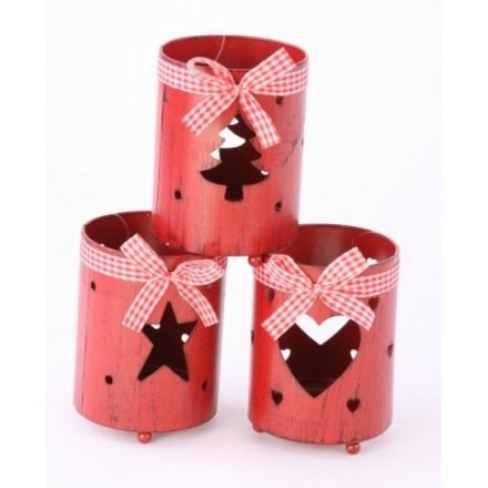Cut Out Tree Heart Star T Light Holder
