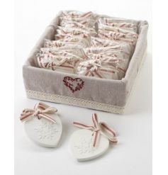 Scented cranberry clay heart festive decorations
