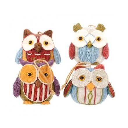 Resin Knitted Owl Mix 4a