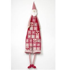 A large stylish fabric christmas calendar in a santa form