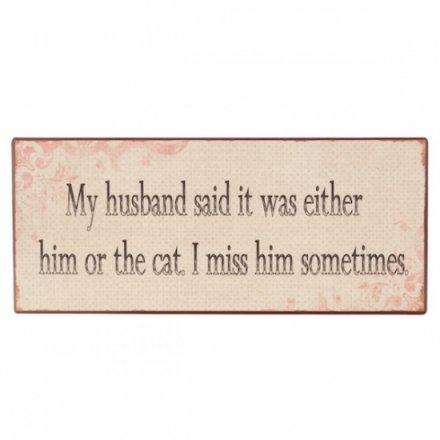 My Husband Iron Plaque