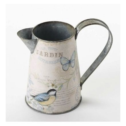 Metal Bird and Butterfly Jug 16cm