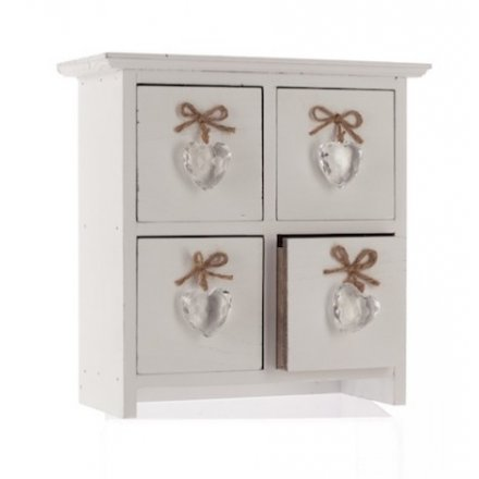 Four Drawer Heart Chest