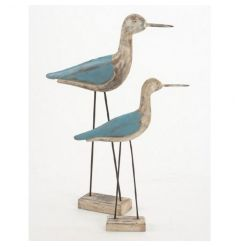 Small long leg sea bird ornaments
