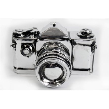 Antique Silver Camera Money Box 10cm x 15cm