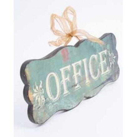 Vintage Style Wooden Office Sign