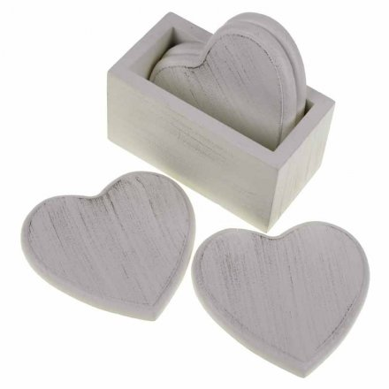 Heart Coaster Set In Holder