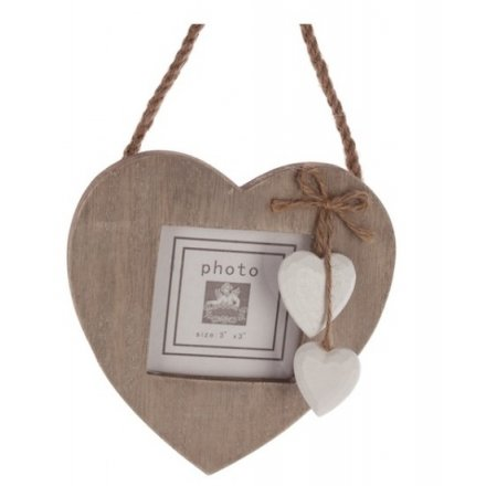 Hanging Heart Photo Frame 14cm