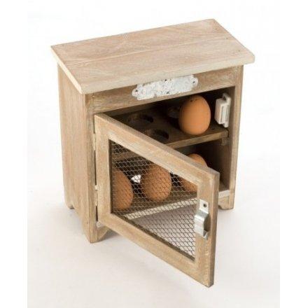 Wooden Egg Cupboard With Mesh Door