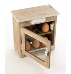 Add that country feel to your home with this wooden egg storage cupboard