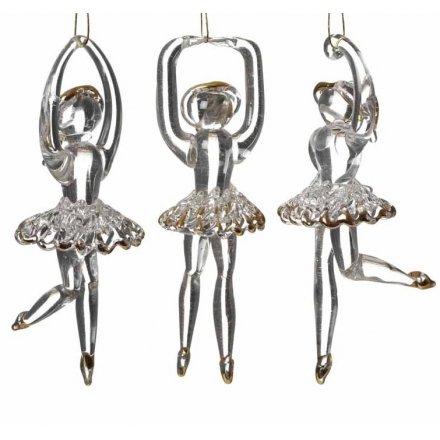 Hanging Glass Ballerina