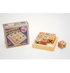 Retro wooden noughts and crosses toy