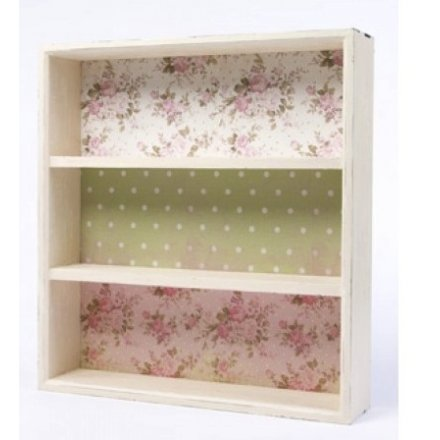Floral Wooden Shelf Unit