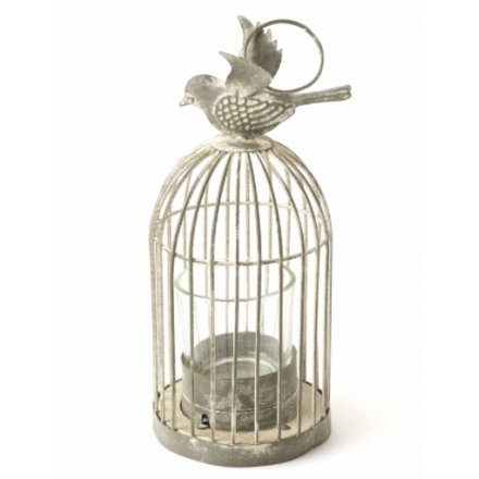 Antiqued Birdcage T Light Holder Small