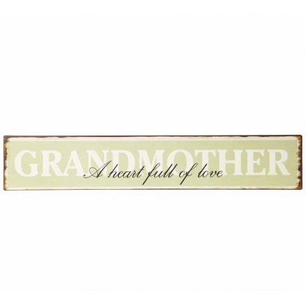 Vintage Style Metal Grandmother Sign