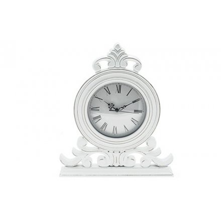 Shabby and chic white clock by Leonardo