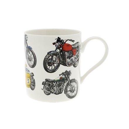 Fine China Motorbike Mug